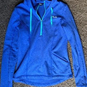 Fila hooded blue quarter zip